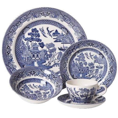 Churchill Willow Pattern 20 Piece Dinner Set