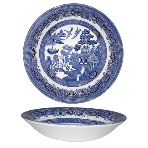 Churchill Blue Willow Pattern Coupe Soup Bowl, 20cm