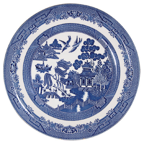 Churchill Blue Willow Pattern Dinner Plate, 26cm