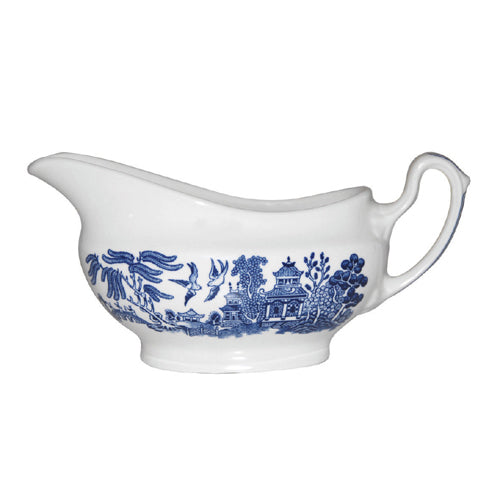 Churchill Willow Pattern Gravy Boat, 350ml