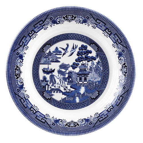 Churchill Blue Willow Pattern Pasta Dish, 28.5cm