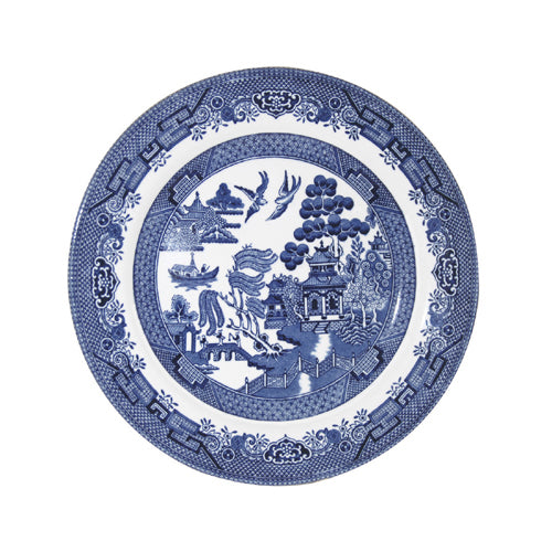 Churchill Blue Willow Pattern Side Plate, 17cm