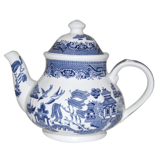 Churchill Blue Willow Pattern Teapot. 1200ml