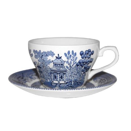 Churchill Blue Willow Pattern Tea Cup/Saucer (Sold Separately)