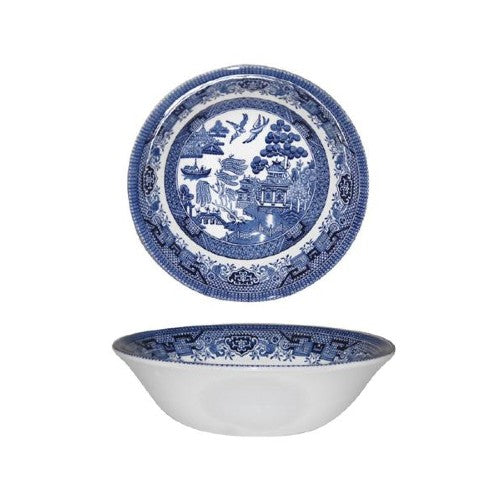 Churchill Blue Willow Pattern Cereal/Oatmeal Bowl, 15.5cm