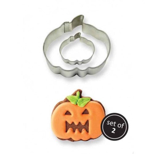 Cookie & Cake Pumpkin Cutter, Set Of 2