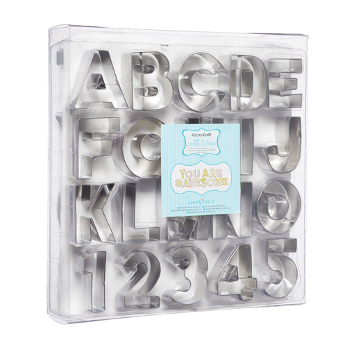 ABC & 123 COOKIE CUTTER SET