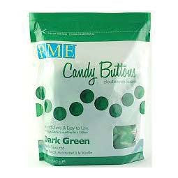 PME Candy Buttons, Dark Green Vanilla Flavoured