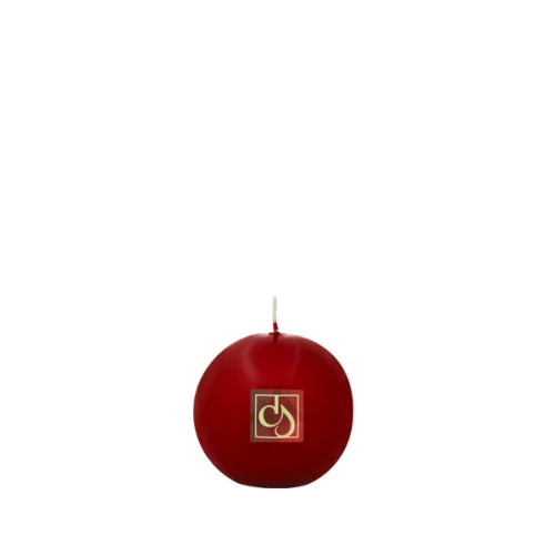 Ball Candle Claret 3 1/8""