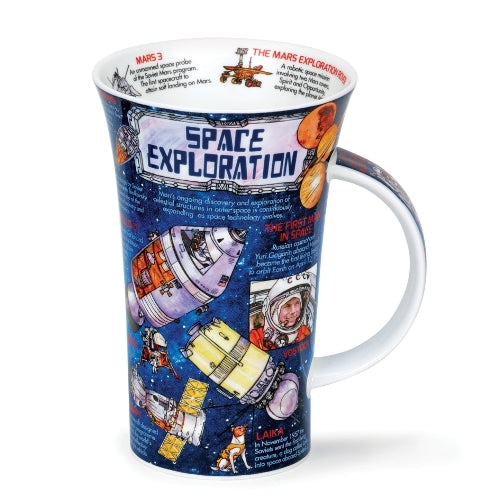 Dunoon Glencoe Fine Bone China Mug, Space Exploration