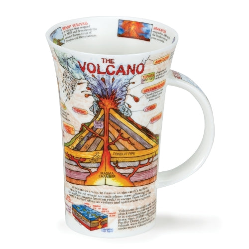 Dunoon Glencoe Fine Bone China Mug, The Volcano