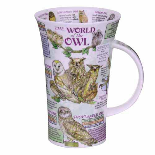 Dunoon Glencoe Fine Bone China Mug, The World Of The Owl