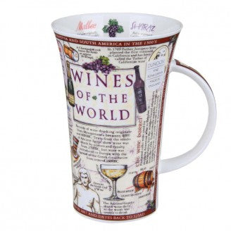 Dunoon Glencoe Fine Bone China Mug, Wines Of The World