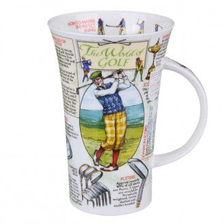 Dunoon Glencoe Fine Bone China Mug, World Of Golf