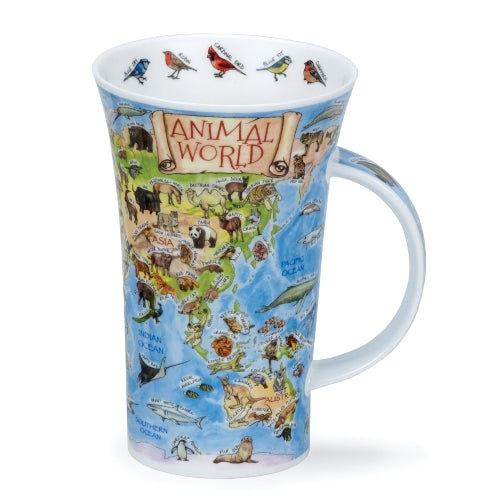 Dunoon Glencoe Fine Bone China Mug, Animal World