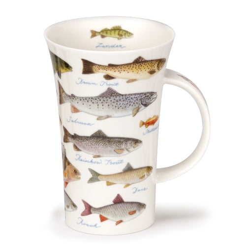 Dunoon Glencoe Fine Bone China Mug, Freshwater Fish