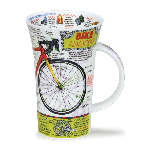 Dunoon Glencoe Fine Bone China Mug, Bike Anatomy