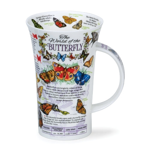 Dunoon Glencoe Fine Bone China Mug, The World Of The Butterfly