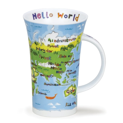 Dunoon Glencoe Fine Bone China Mug, Hello World