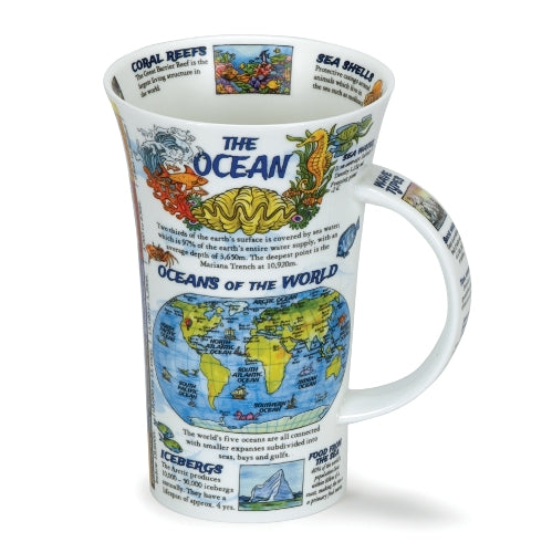 Dunoon Glencoe Fine Bone China Mug, The Ocean