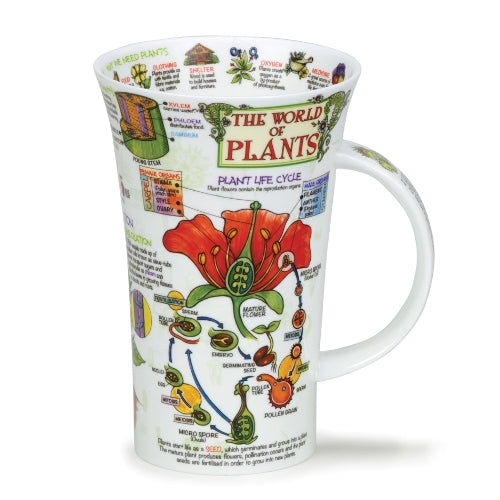Dunoon Glencoe Fine Bone China Mug, The World Of Plants