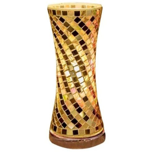 Mosaic Tower Lamp, 32cm, Gold