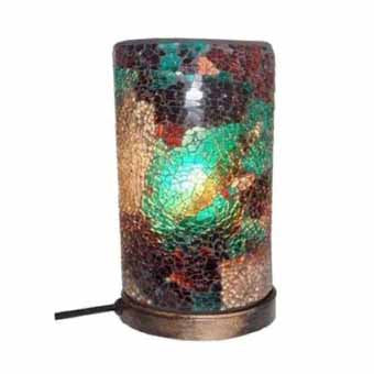 Athos Mosaic Column Multicoloured Lamp, 22cm,