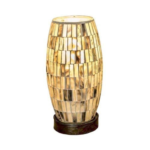 Mosaic Barrel Lamp, 22cm, Gold