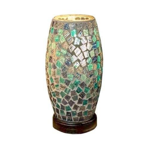 Mosaic Barrel Lamp, 22cm, Blue