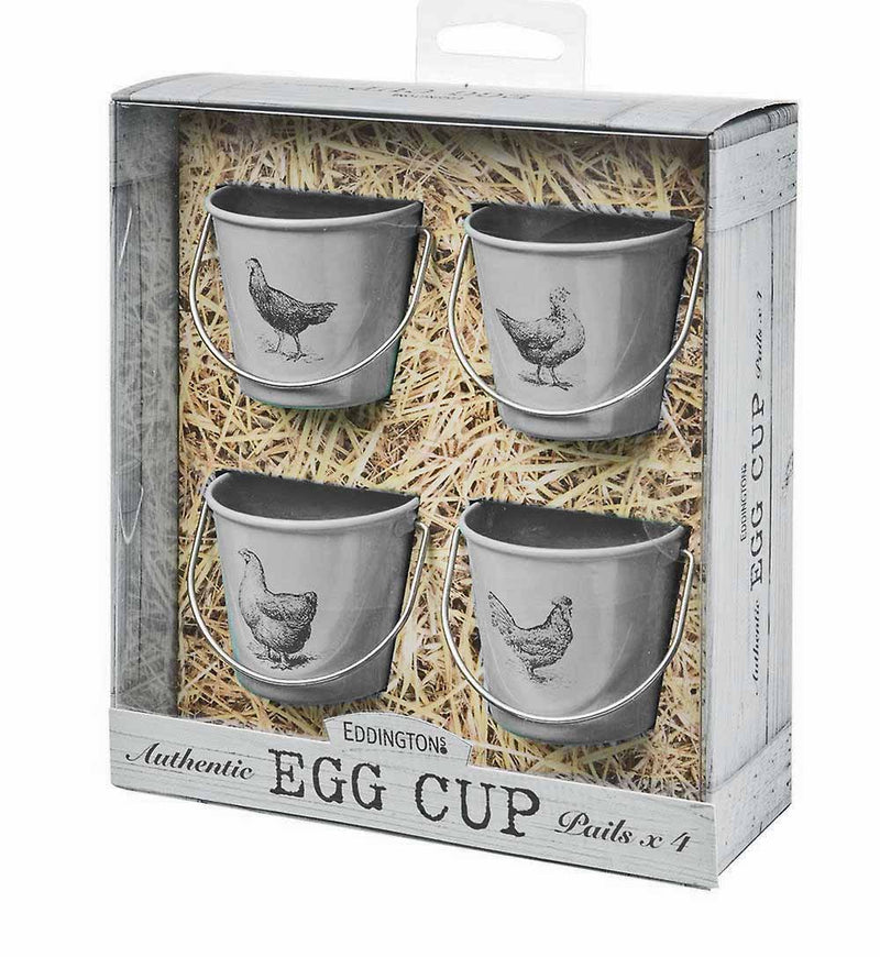 Eddingtons Vintage Hens Egg Pails, Set Of 4, Grey