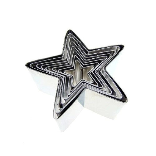 Stainless Steel Tall Star Cookie Cutters, Set Of 8