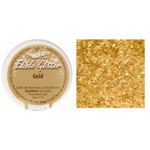 Rainbow Dust Edible Glitter, 5g, Gold
