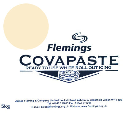 Flemings Covapaste Ready To Roll Icing, 5kg, Ivory