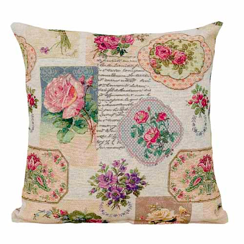 Flower Bouquet Poly Filled Cushion, 45cm