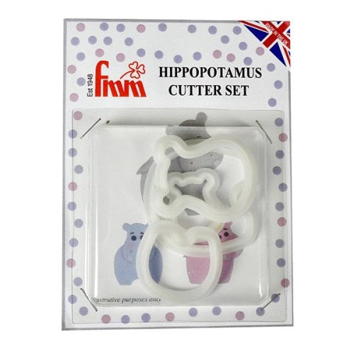 FMM Hippo Mummy & Baby Cutters, Set of 4
