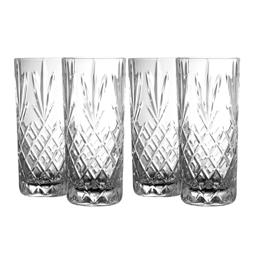 Galway Crystal Renmore Hiball, Set Of 4