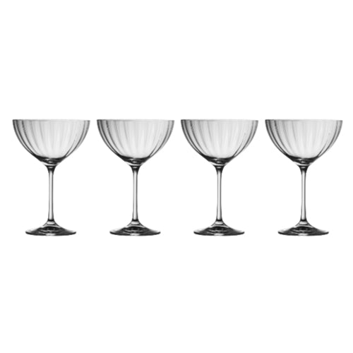 Galway Living Erne Saucer Champagne, Set Of 4