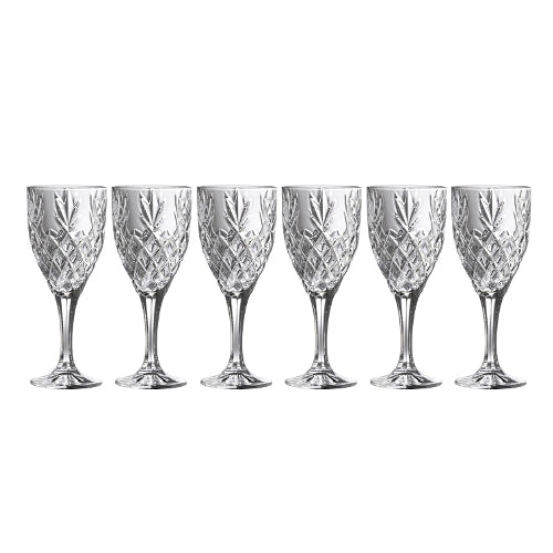 Galway Crystal Renmore Wine Goblet, Set Of 6