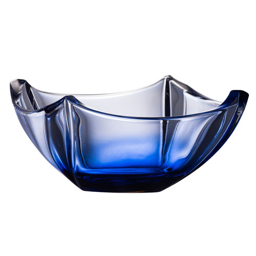 "Galway Crystal Dune Bowl, 10"", Sapphire"