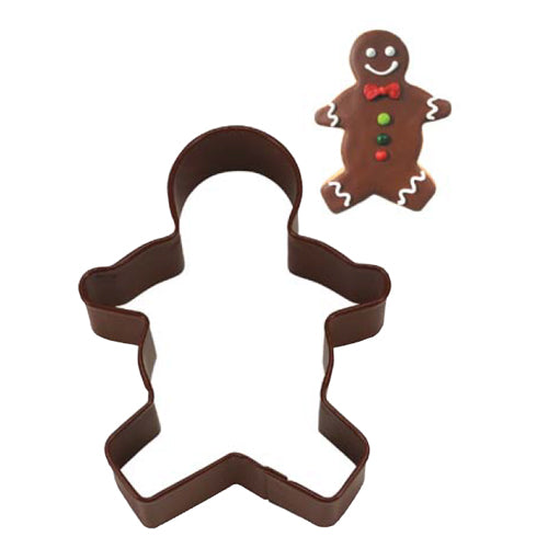 Brown Gingerbread Boy Cookie Cutter, 3.5""