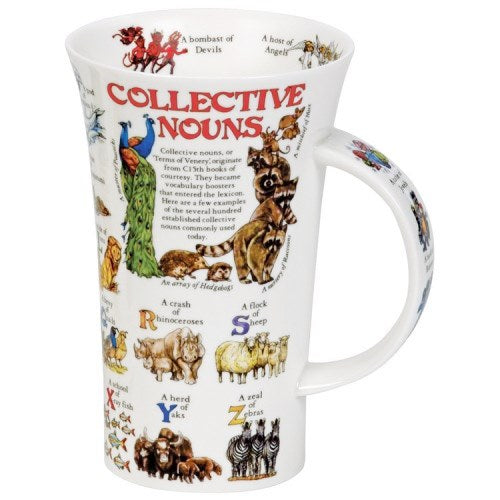 Dunoon Glencoe Fine Bone China Mug, Collective Nouns