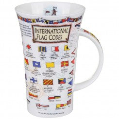 Dunoon Glencoe Fine Bone China Mug, International Flag Codes