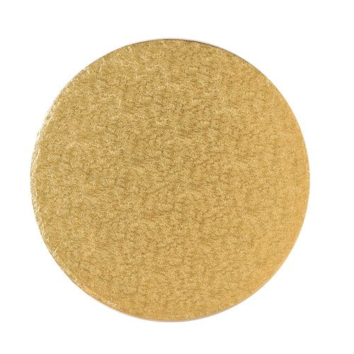 "Round Cake Board, Deep, 12"", Gold"
