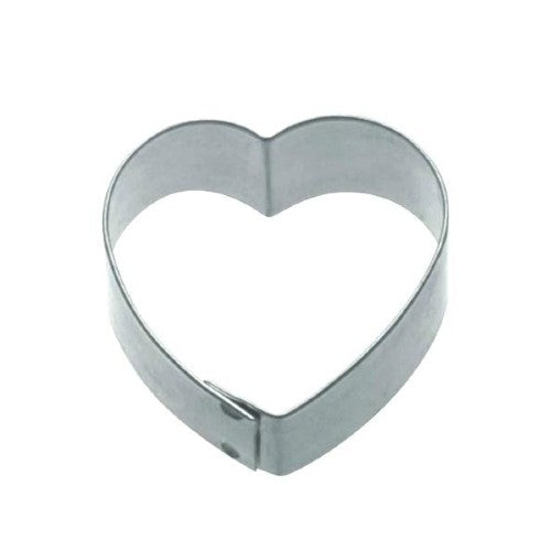 Heart Shaped Metal Cookie Cutter, 7cm