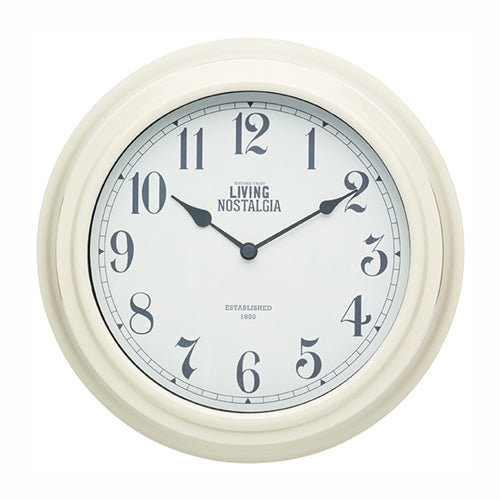 Living Nostalgia Wall Clock, Antique Cream