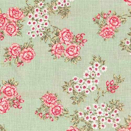 A.U Maison Isabella Oilcloth, Light Green, FREE SWATCH