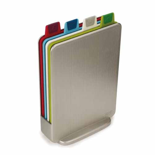 Joseph Joseph Index Mini Chopping Boards, Set Of 4, Silver