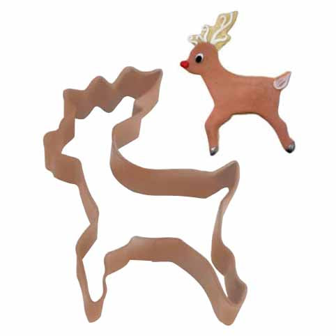 Brown Reindeer Cookie Cutter, 4""