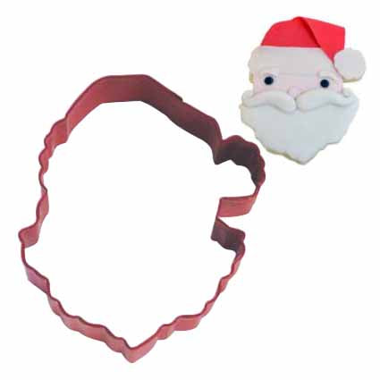 Santa's Face Cookie Cutter, 3.75""