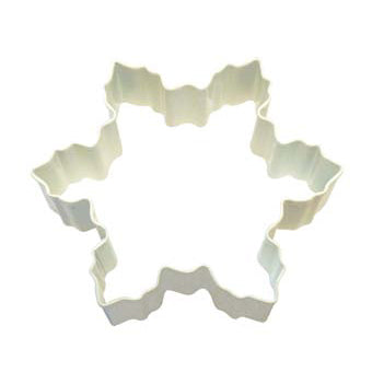 White Snowflake Shaped Cookie Cutter, 10cm